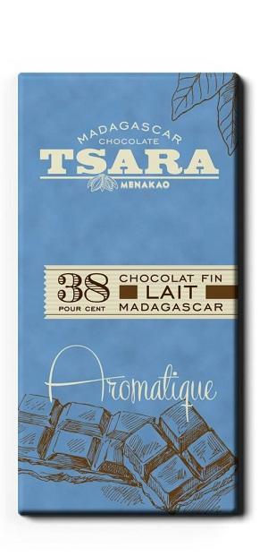 Tsara - Chocolat tablette aromatique (38% Cacao)