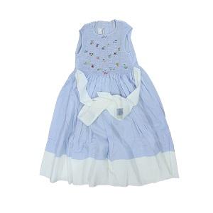 Pervenche - Robe fillette 8 ans - 100% coton - Bleu ciel