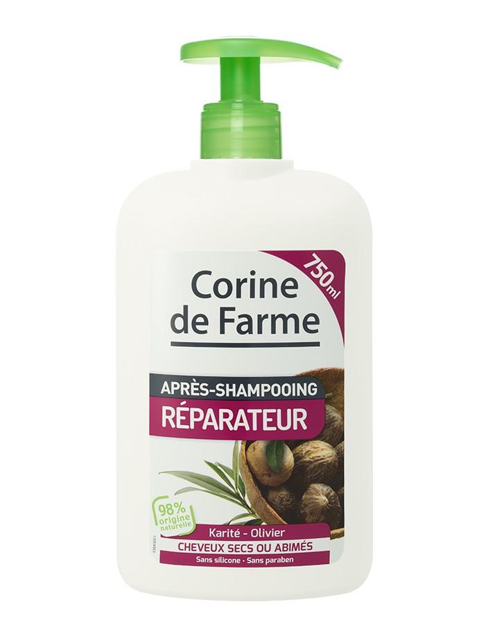 Corine de farme - Après-Shampoing Réparateur Karité & Olivier - 750 ml