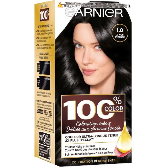 GARNIER - Coloration Permanente 100%  Noir Intense