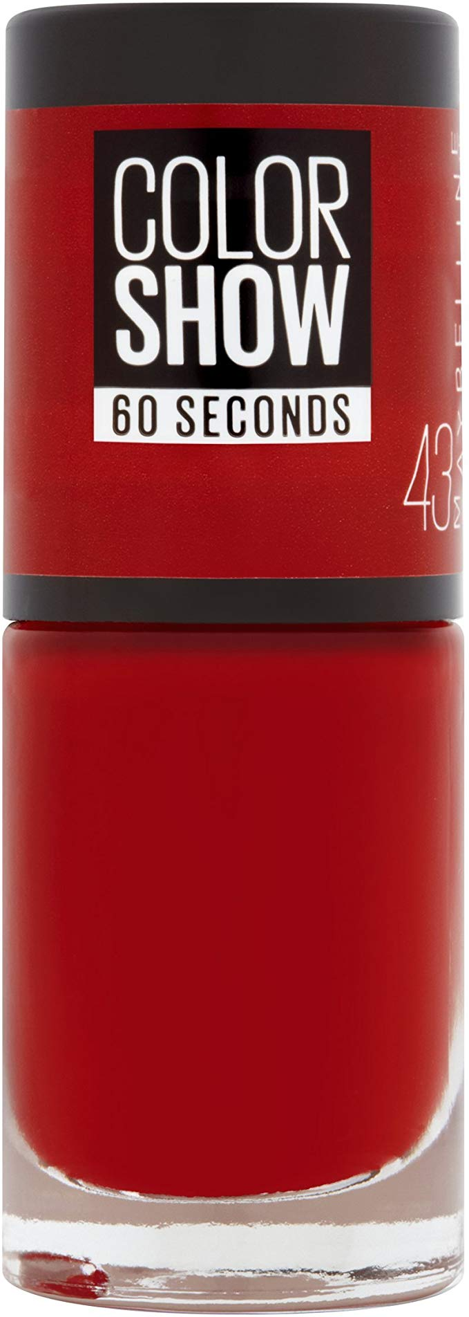 Maybelline  - Vernis à ongles colorshow (43) - Rouge Profond - 6,7ml