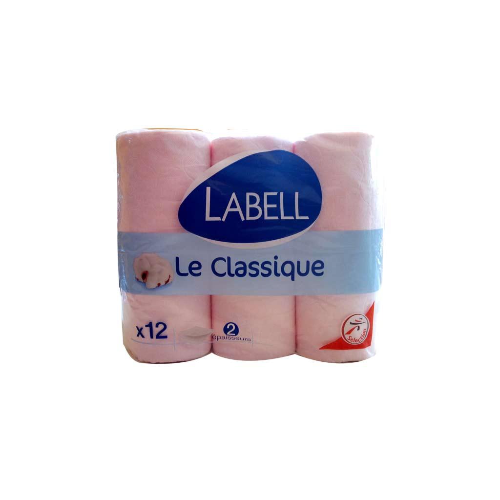 Label - papier hygienique classique - 12 rouleaux