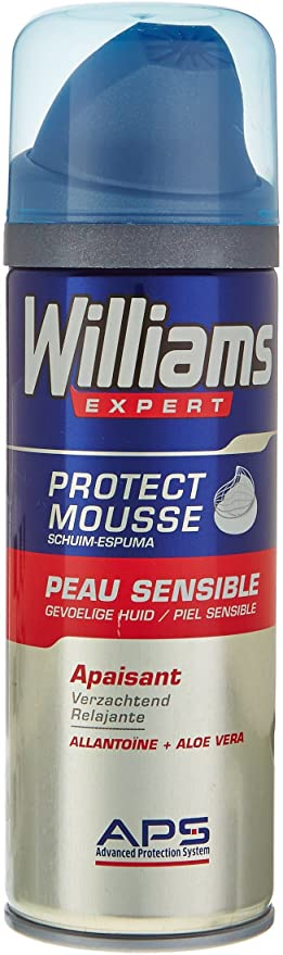 Williams - Mousse à Raser Peau sensible - 200 ml