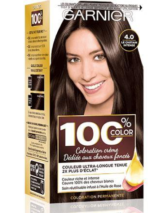 Garnier - 100% Ultra Brun - Coloration Permanente Châtain - Le Châtain Intense 4.0