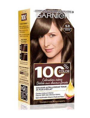 Garnier - 100% Ultra Brun - Coloration Permanente Châtain - Le Châtain Clair Sensation 5.0
