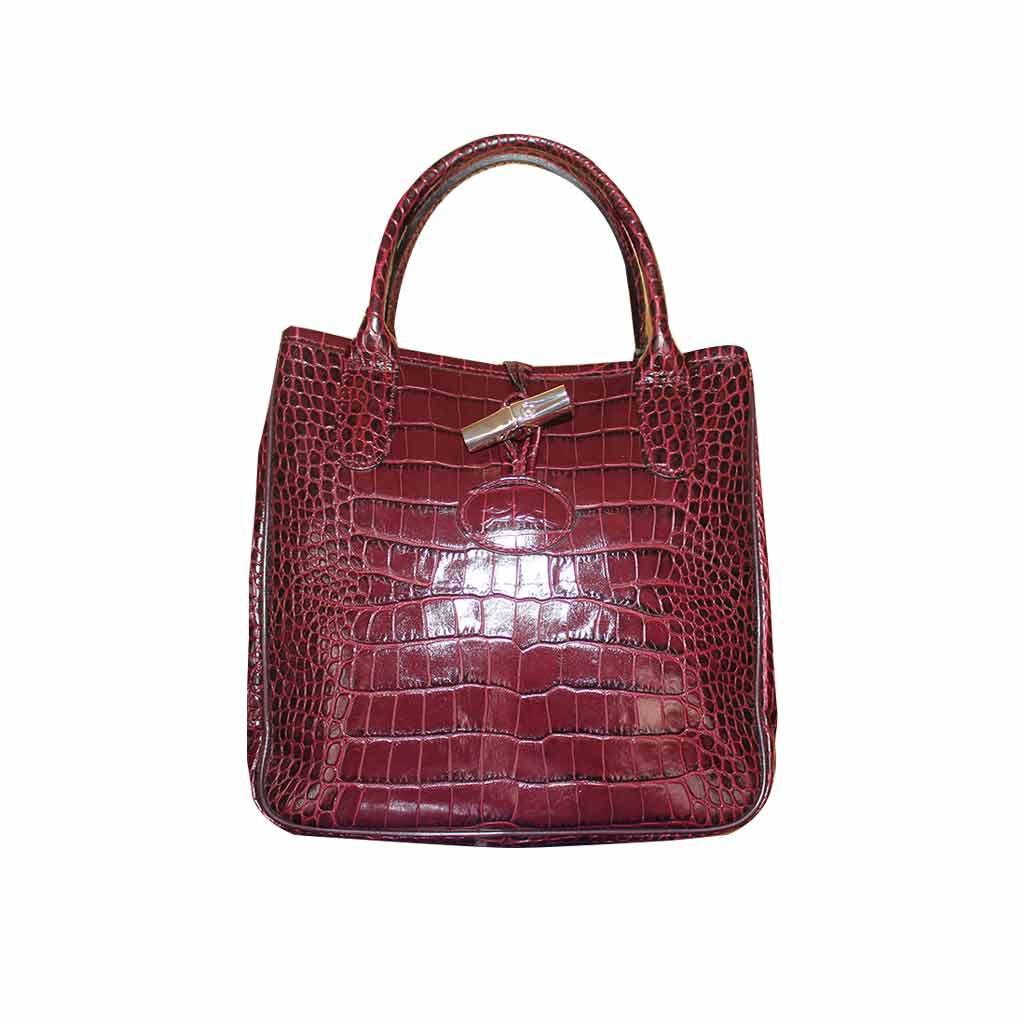 Longchamp - Sac à main roseau rouge hermés
