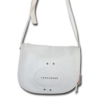 Longchamp - Sac à bandoulière en cuir - Blanc (Ancienne collection)