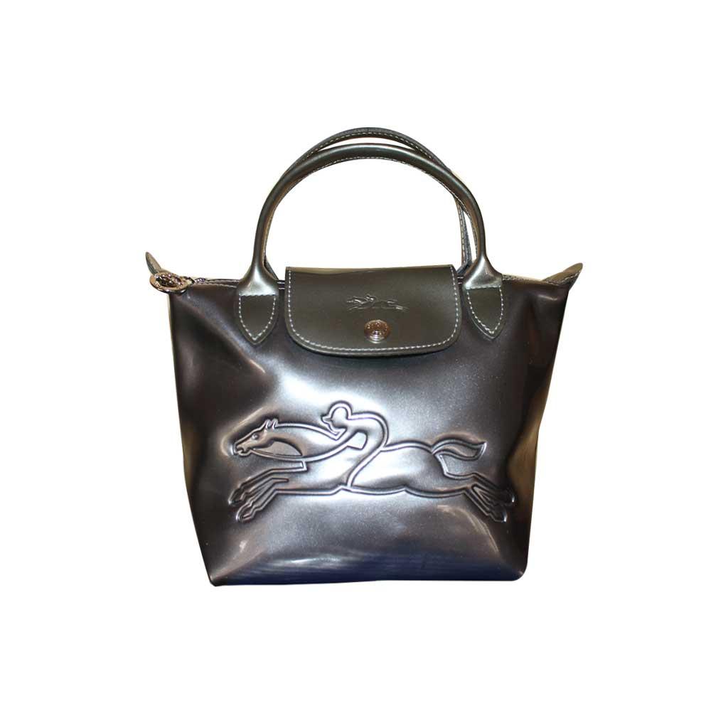Longchamp - Sac à main Le pliage - Horseman argent foncé