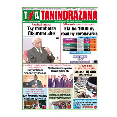 TIA TANINDRAZANA 06-06-2020