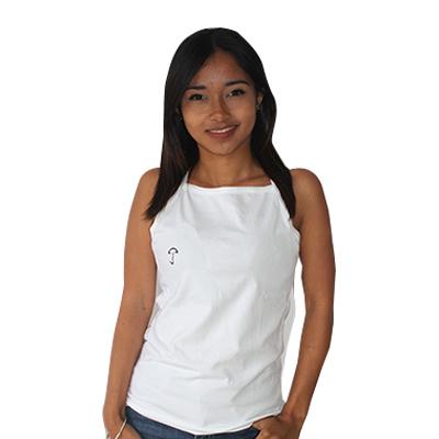 Jejoo - Débardeur fine col carré Blanc - Taille L