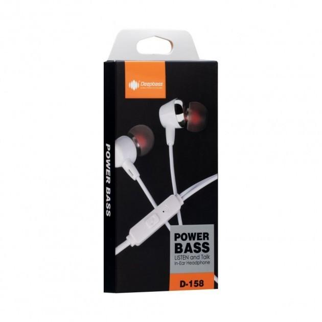 Deepbass - Ecouteur D158 - Blanc