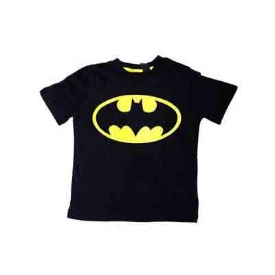 Tee-shirt junior Black Batman (Taille 7 - 8 ans)