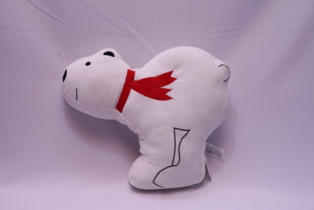 Miniso - peluche ours tout blanc