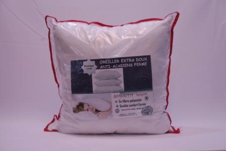 Smooth night - Oreiller extra doux anti acariens ferme - 60*60cm