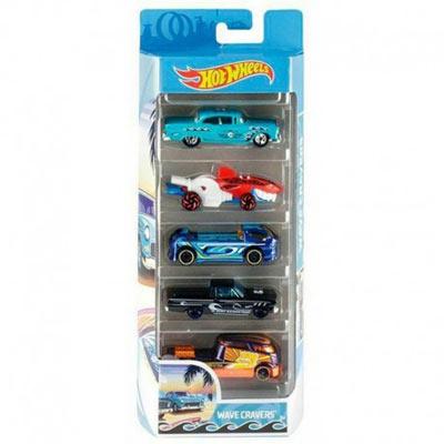Hot Wheels Wave Cravers - Pack de 5 voitures