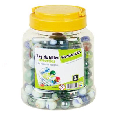 Wonder kids - Baril de billes assorties - 1kg