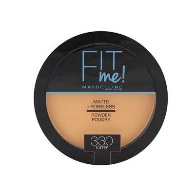 Maybelline - FOND DE TEINT POUDRE FIT ME MATTE - Caramel doré 330