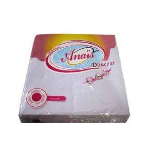 Anais - Serviette de table douceur - 20 Feuilles (blanc)
