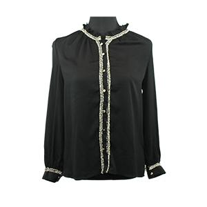 Korea - Haut noir chemise - Taille L