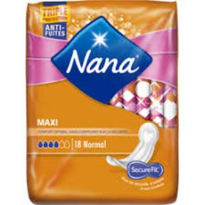 NANA - SERVIETTE HYGIENIQUE MAXI NORMAL x18