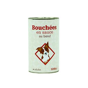 Leader Price - Bouchées en sauce au boeuf pour chien adulte - 1240g