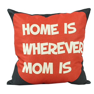 Coussin en lin - HOME IS WHEREVER MOM IS