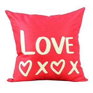 Coussin en lin - Fushia LOVE XOXO