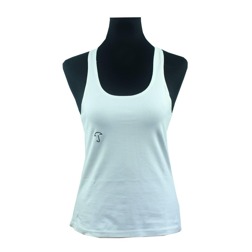 Jejoo - Débardeur clouté blanc - Taille XL