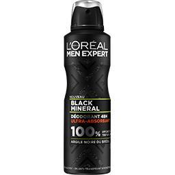 L'Oréal Men Expert - Déodorant spray ultra-absorbant BLACK MINERAL - 200ml