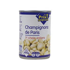 Le prix gagnant - Champignons de Paris - 400g