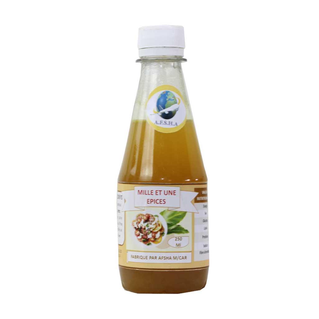 Afsha - Vinaigre aromatisé Mille et une épice à l'huile d'olive (tamisé) - 250ml