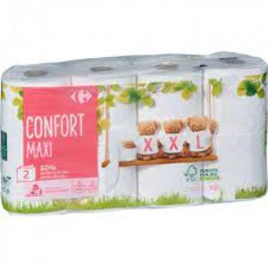 Carrefour Confort-Papier toilette 2 Plis Maxi XXL-8 rouleaux