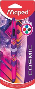 Maped - Stylo Bille 4 couleurs Twin Tip Cosmic Rose