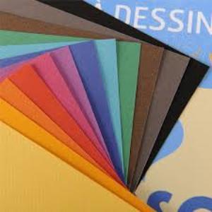 CANSON-Papier à dessin couleur mi-teintes vives - pochette 12 feuilles 160g