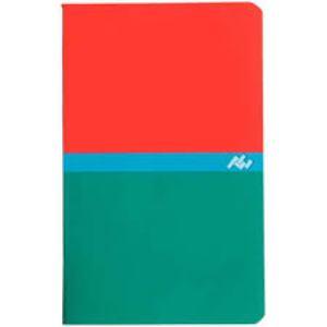 CONQUERANT- Carnet piqûre 9x14 cm - 96 pages - Rouges/vert