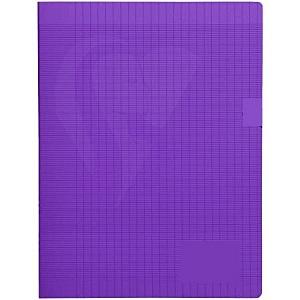 Laureat - Cahier 17x22 couverture plastique Violet - 48 Pages
