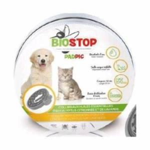 BIOSTOP - Collier animaux aux huiles essentielles