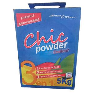 CHIC -Savon en poudre Couleur - 5kg