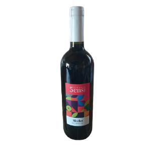 Vin Rouge 5sensi  Merlot - 75cl