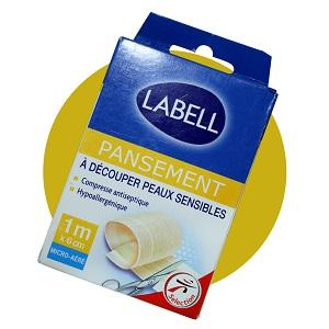 LABELL - pansement - Decoupe Anti-septique - Peau Sensible