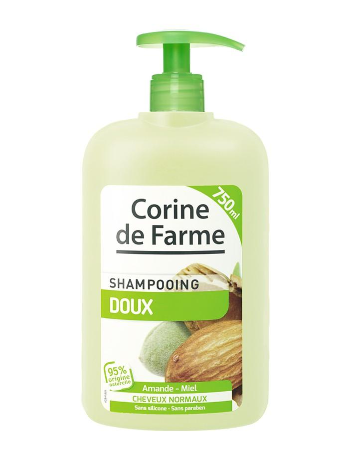 Corine de farme - Shampoing doux Amande & Miel - 750 ml