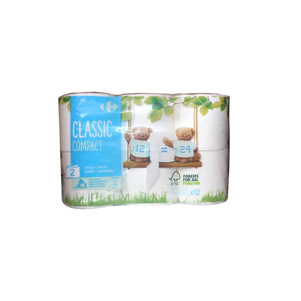 Carrefour - Papier Hygiénique compact 12 rouleaux
