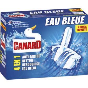 Canard - Bloc Cuvette Eau Bleue - 2 Blocs