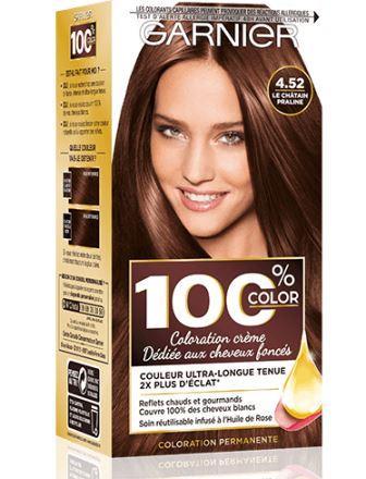 Garnier - 100% Ultra Brun - Coloration Permanente Châtain - Le Châtain Praline 4.52