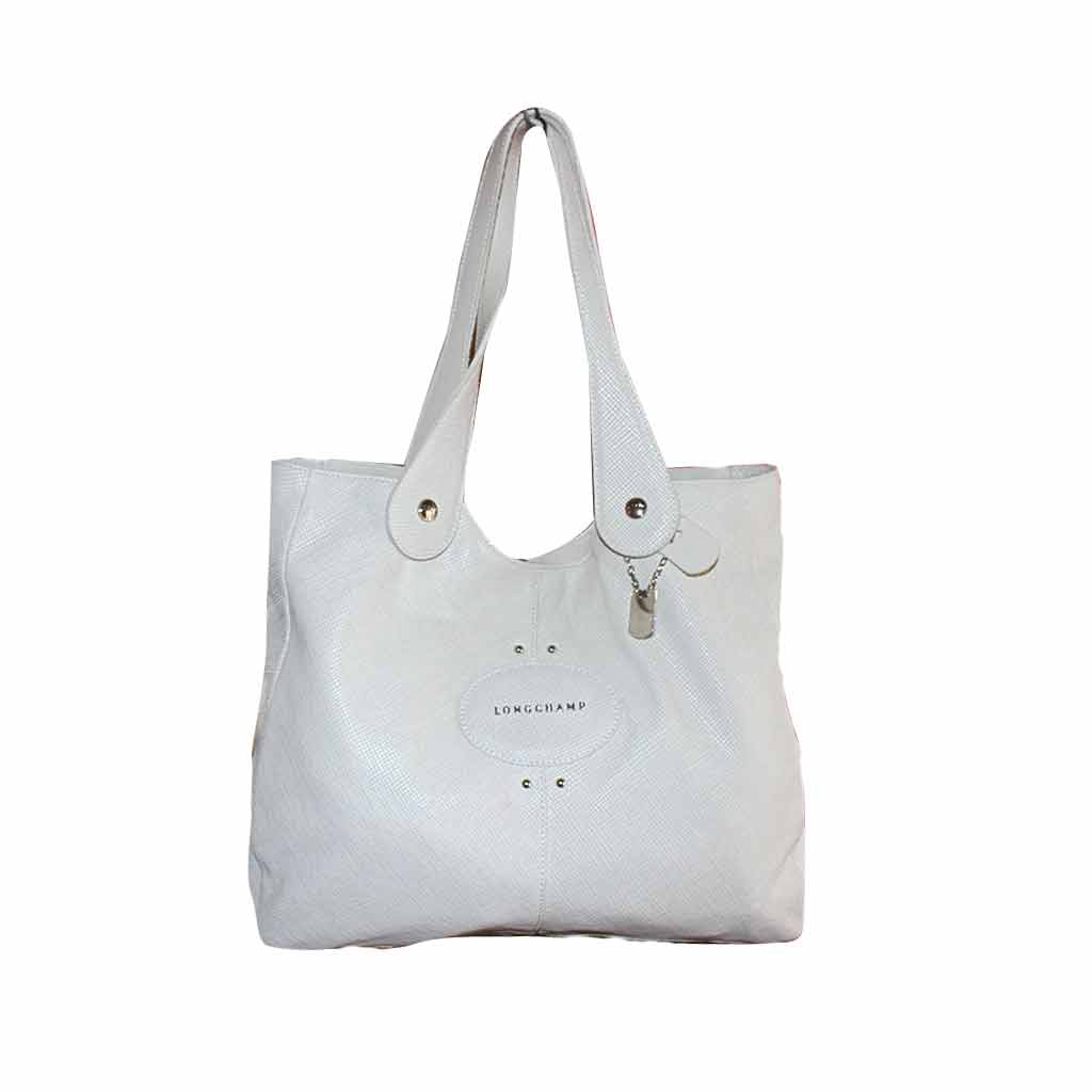 Longchamp - Sac à main en cuir - Blanc (Ancienne collection)