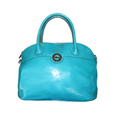 Longchamp - Sac à main Sultan en cuir - Bleu turquoise