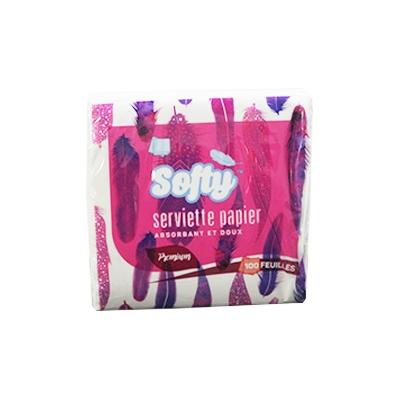 Softy - Serviette en papier - 100 Feuilles