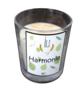 Green and Co - Bougie en verre Harmonie (Cannelle + Ravintsara + Citronnelle)